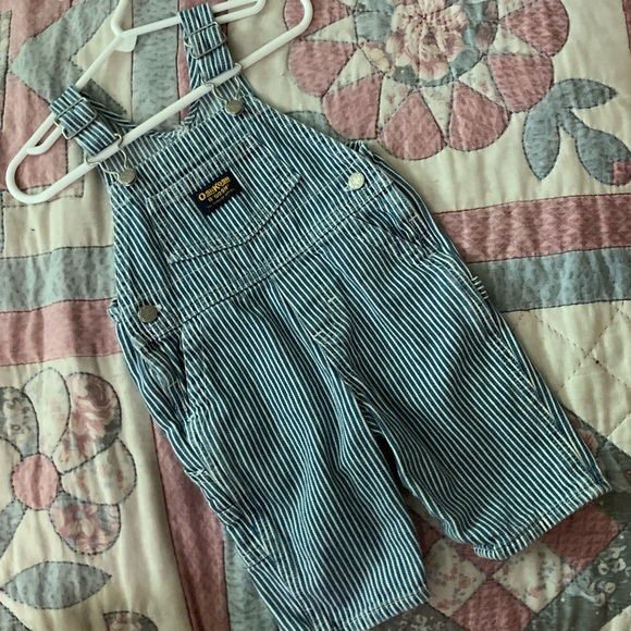 OshKosh B'gosh Other - OshKosh B'gosh Stripe Denim Overalls. Boy Sz 3-6m
